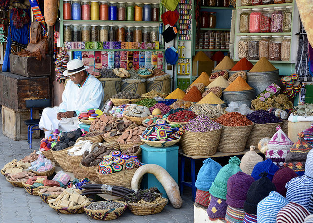 La médina de Marrakech.