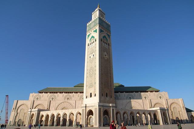 Mosquée Hassan II à Casablanca.