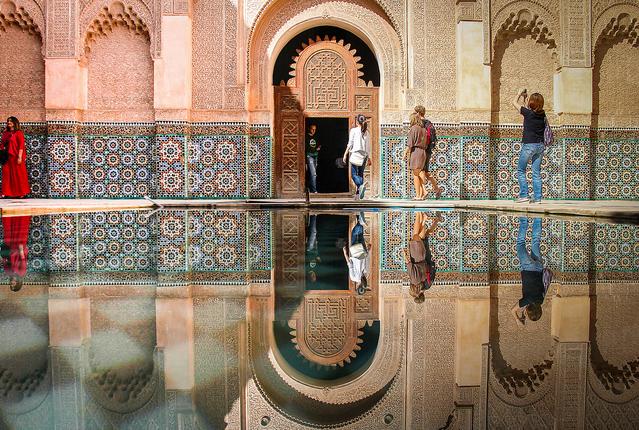 Madrassa Ben Youssef à Marrakech.