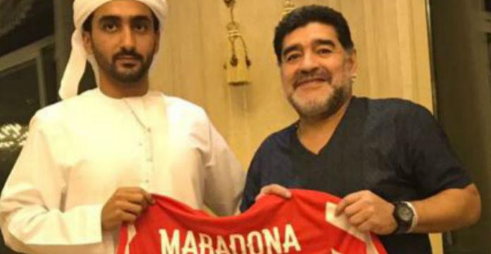 Maradona entraîneur d'une D2 aux Emirats Arabes Unis