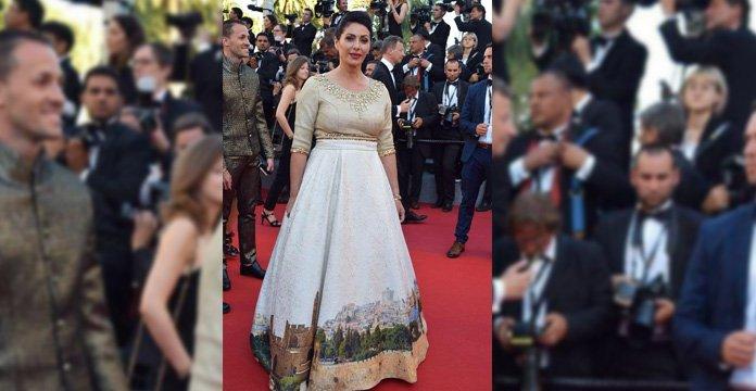 La robe d'une ministre représentant Al Qods suscite la polémique — Cannes