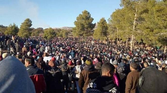 """Résultat de recherche d'images pour """"jerada maroc manifestations"""""""