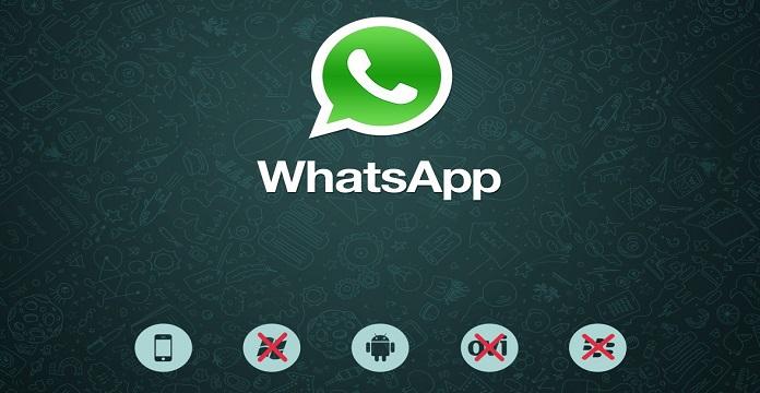 Plus de WhatsApp pour BlackBerry OS, BlackBerry 10 et Windows Phone 8.0