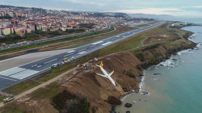 EN IMAGES - Turquie: un avion rate son atterrissage