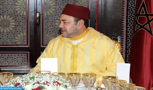 Le roi offre un Iftar en l'honneur d'Ali Bongo et Moussa Faki Mahamat