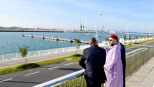 Le roi inaugure les nouveaux ports de pêche et de plaisance de