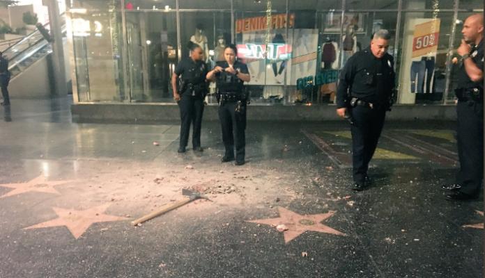 L'étoile de Donald Trump sur le Walk of Fame encore vandalisée