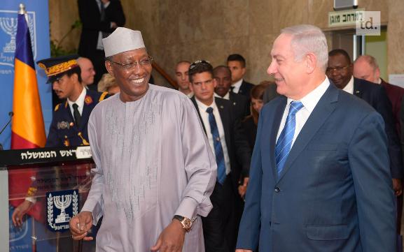 Idriss Deby en visite en Israël