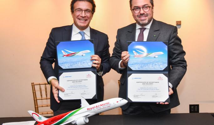 Vidéo Royal Air Maroc Réceptionne Son Premier Avion Boeing 787 9