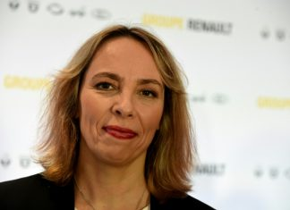 La directrice générale par intérim de Renault, Clotilde Delbos, au siège de Renault à Boulogne-Billancourt, le 14 février 2020