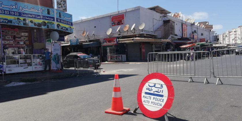 Quartiers de Casablanca fermés
